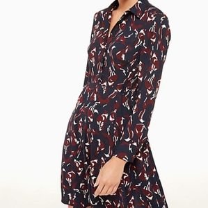 Kate Spade so foxy foxes smocked dress